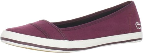 Lacoste Lacoste Womens Marthe Paris Slipon Fashion Sneaker in Purple (burgundy) - Lyst