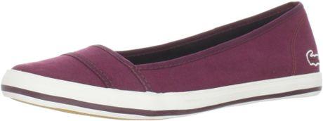 Lacoste Lacoste Womens Marthe Paris Slipon Fashion Sneaker in Purple (burgundy)