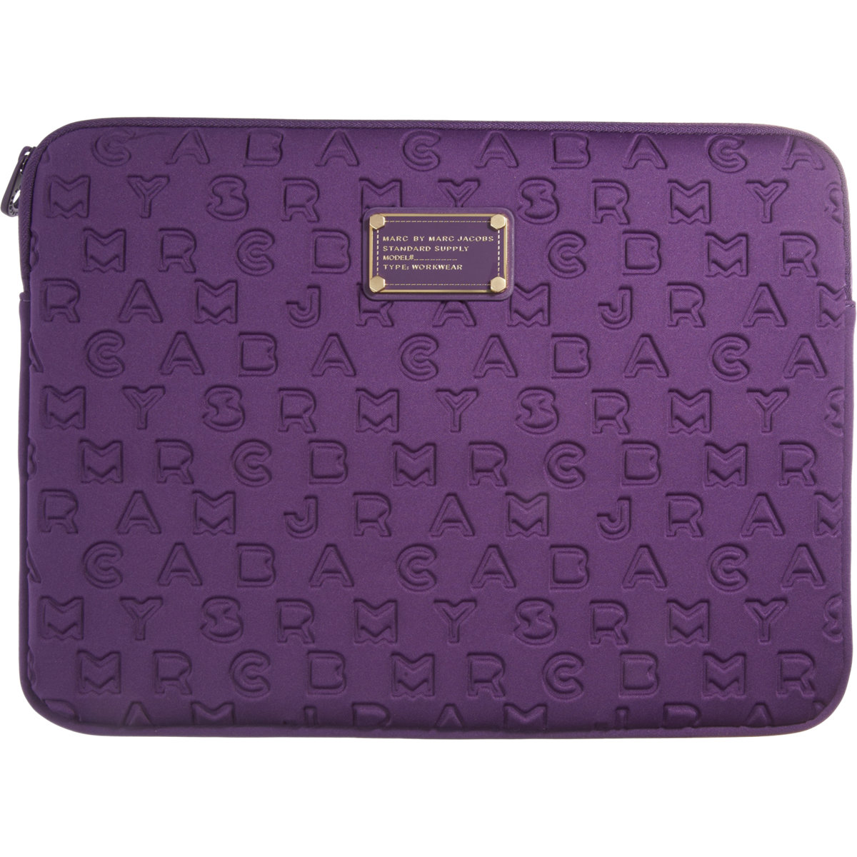 marc by marc jacobs dreamy logo 13 laptop sleeve in purple lyst. Black Bedroom Furniture Sets. Home Design Ideas