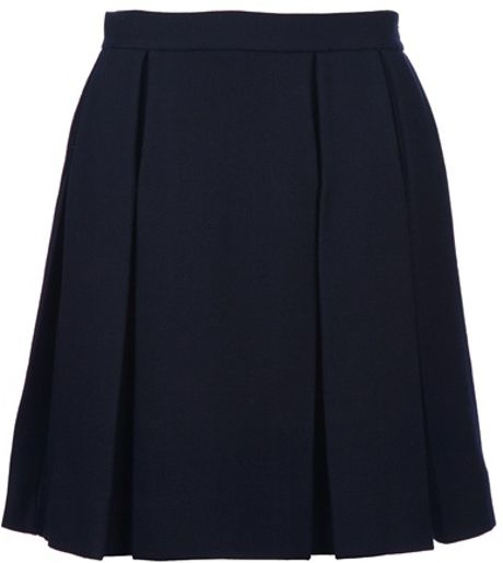 marni pleated skirt in blue navy lyst