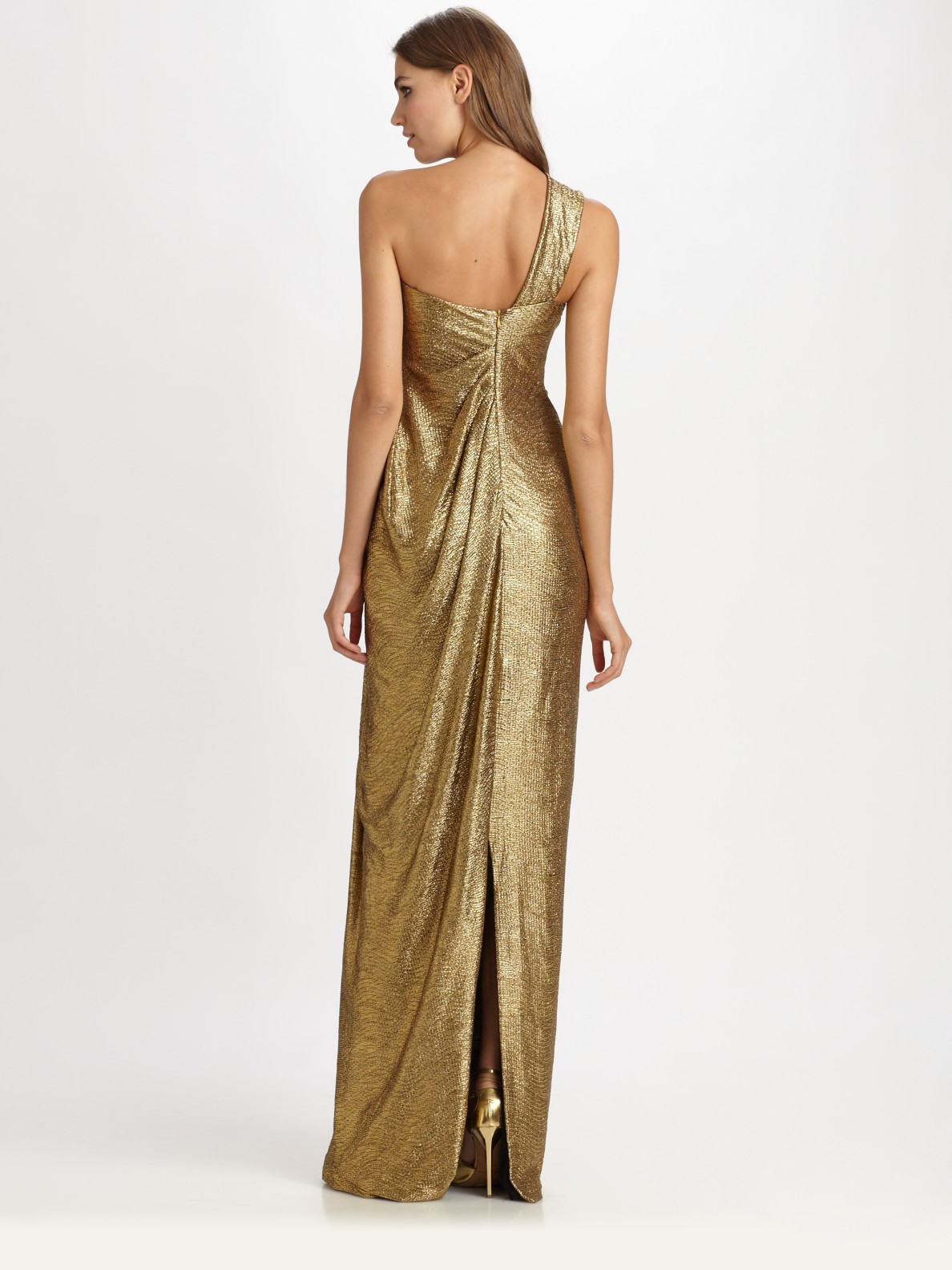 Lyst Notte By Marchesa Lam 233 Gown In Metallic