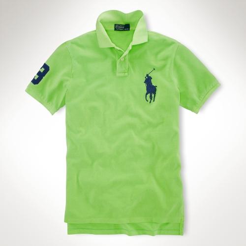 Ralph Lauren Women Green Soft Navy Big Pony Polo