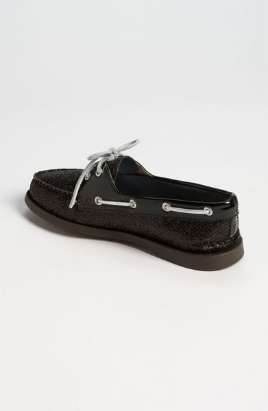 sperry top sider authentic original boat shoe in black