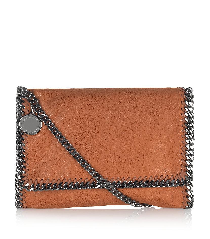 stella mccartney falabella crossbody bag in brown lyst