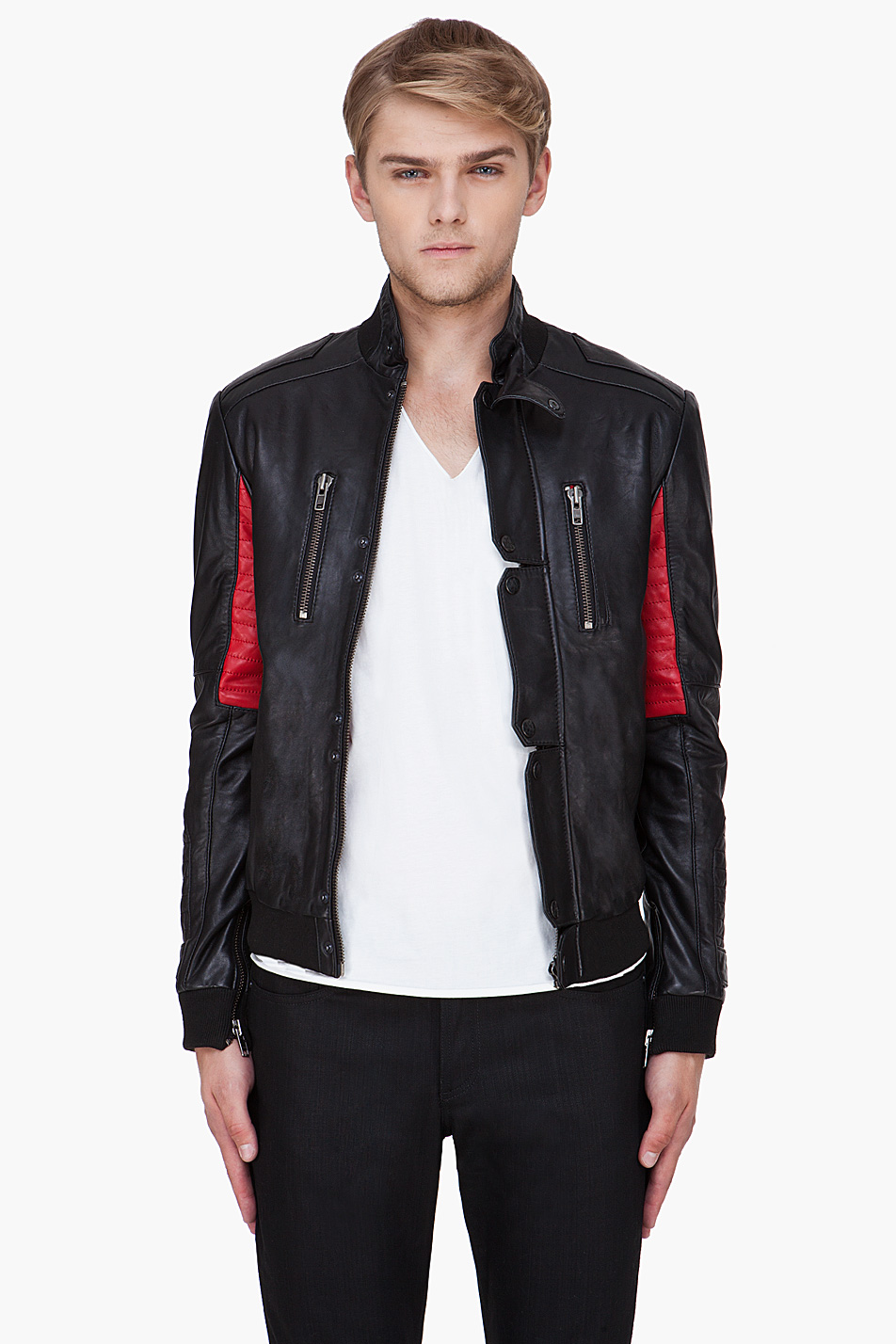 Leather jackets for kids - Surface To Air Black Kid Cudi Champs Jacket In For Men Lyst