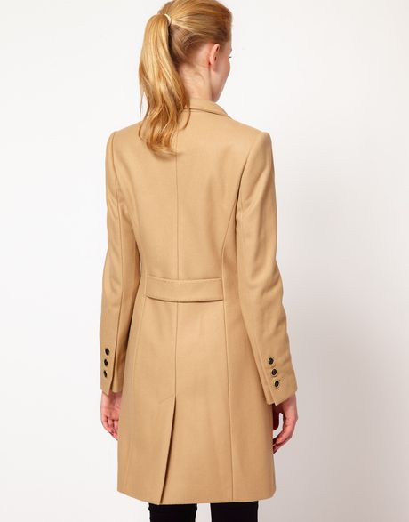Ted Baker Tailored Car Coat In Brown Camel Lyst