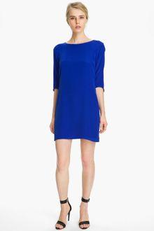 Shift Dress on Tibi Silk Shift Dress In Blue   Lyst