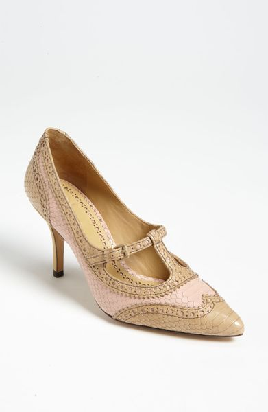 Tory Burch Everly Pump in Pink (sugarcane camel)