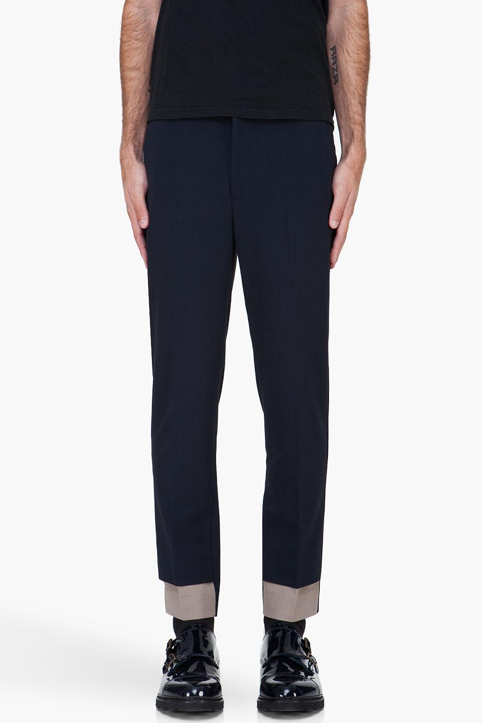 3.1 Phillip Lim Navy Gabardine Saddle Pants in Blue for Men (navy)   Lyst