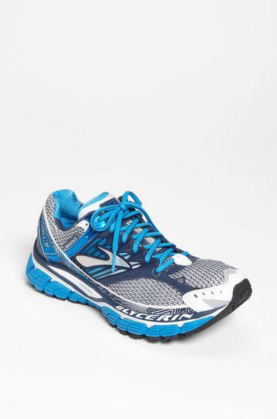 Brooks Glycerin 10 Running Shoe in Blue (blue/ white) | Lyst