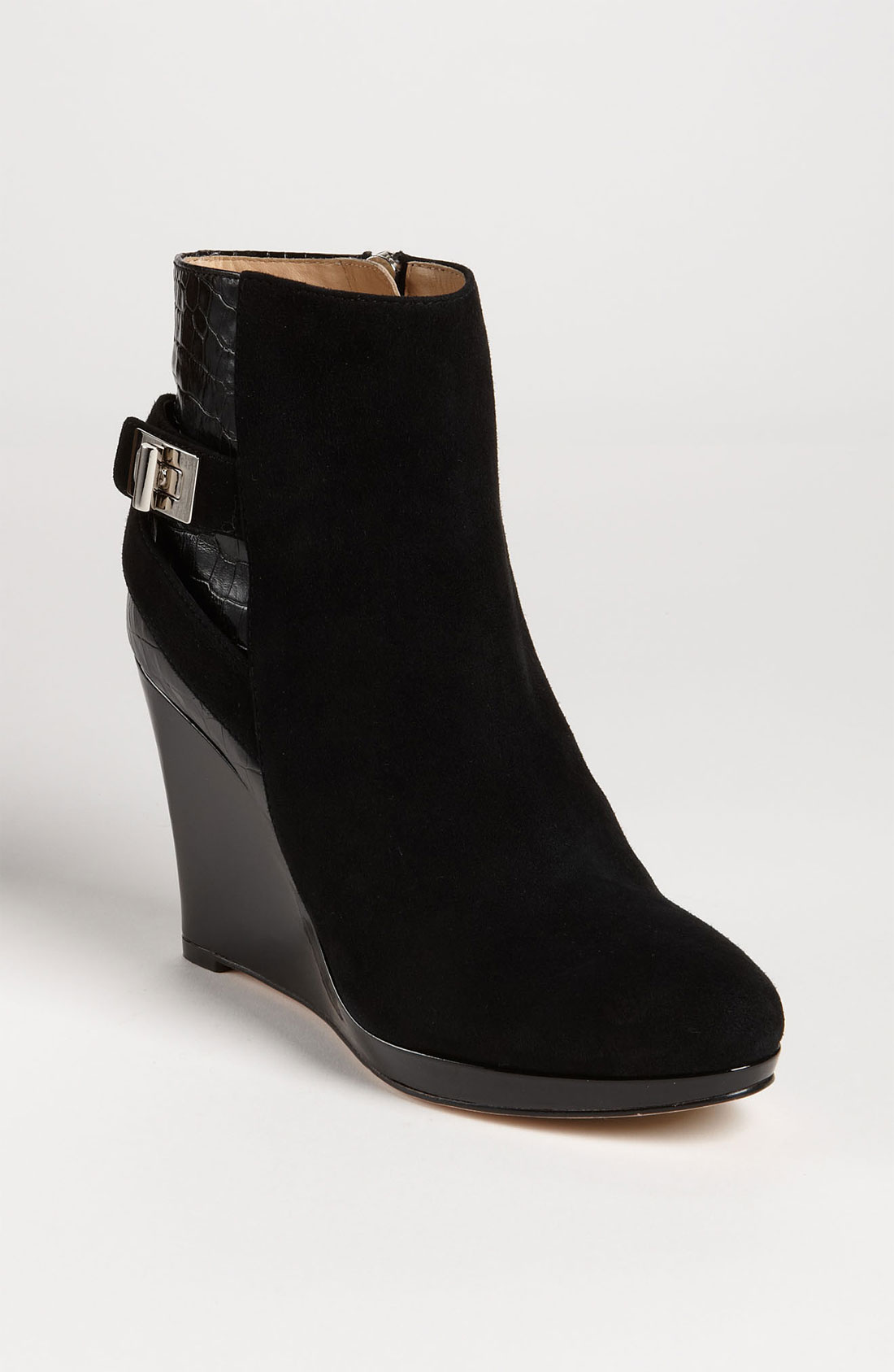 cole haan martina wedge ankle boot in black lyst