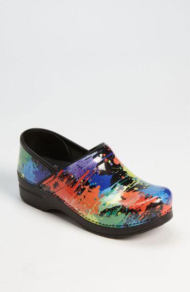 Dansko Mt Professional Clog In Multicolor Paint Splatter