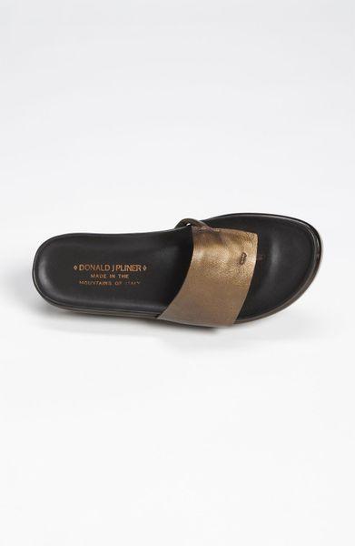 Donald J Pliner Fifi Sandal In Brown Bronze Lyst