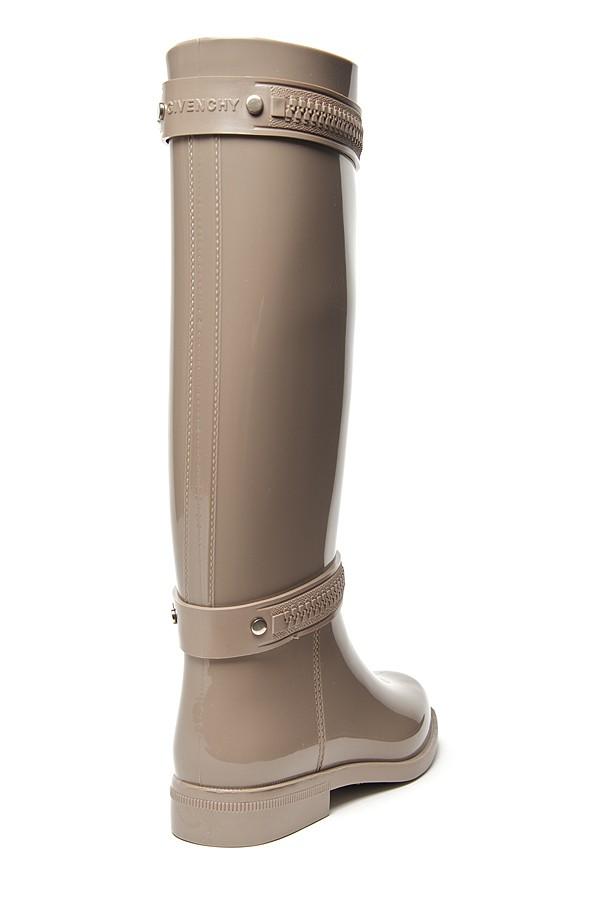 Givenchy Zipper Dežni čevlje v sivi lizi-8978
