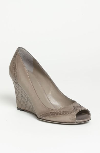 Gucci Johanna Wedge in Gray (grey) - Lyst