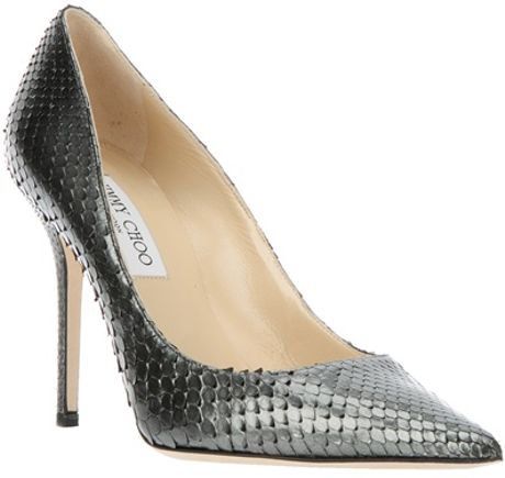 Jimmy Choo Abel Pump in Silver (gunmetal)