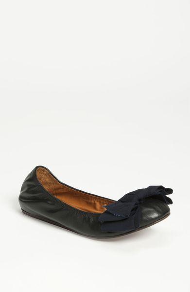 Lanvin 10th Anniversary Grosgrain Bow Ballet Flat in Black