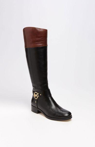 michael michael kors fulton harness boot in brown black