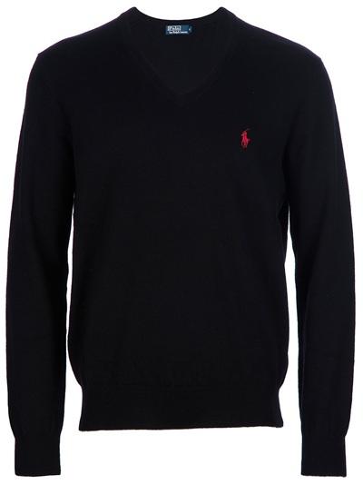 Polo Ralph Lauren V Neck Sweater In Black For Men Lyst