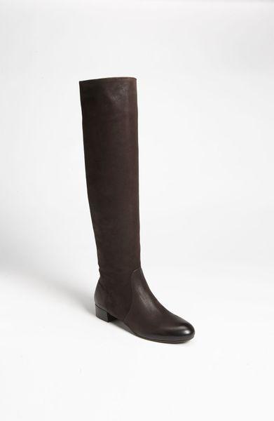 prada flat boot in brown lyst
