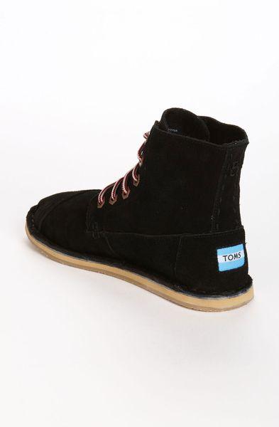toms tomboy boot in black black suede lyst