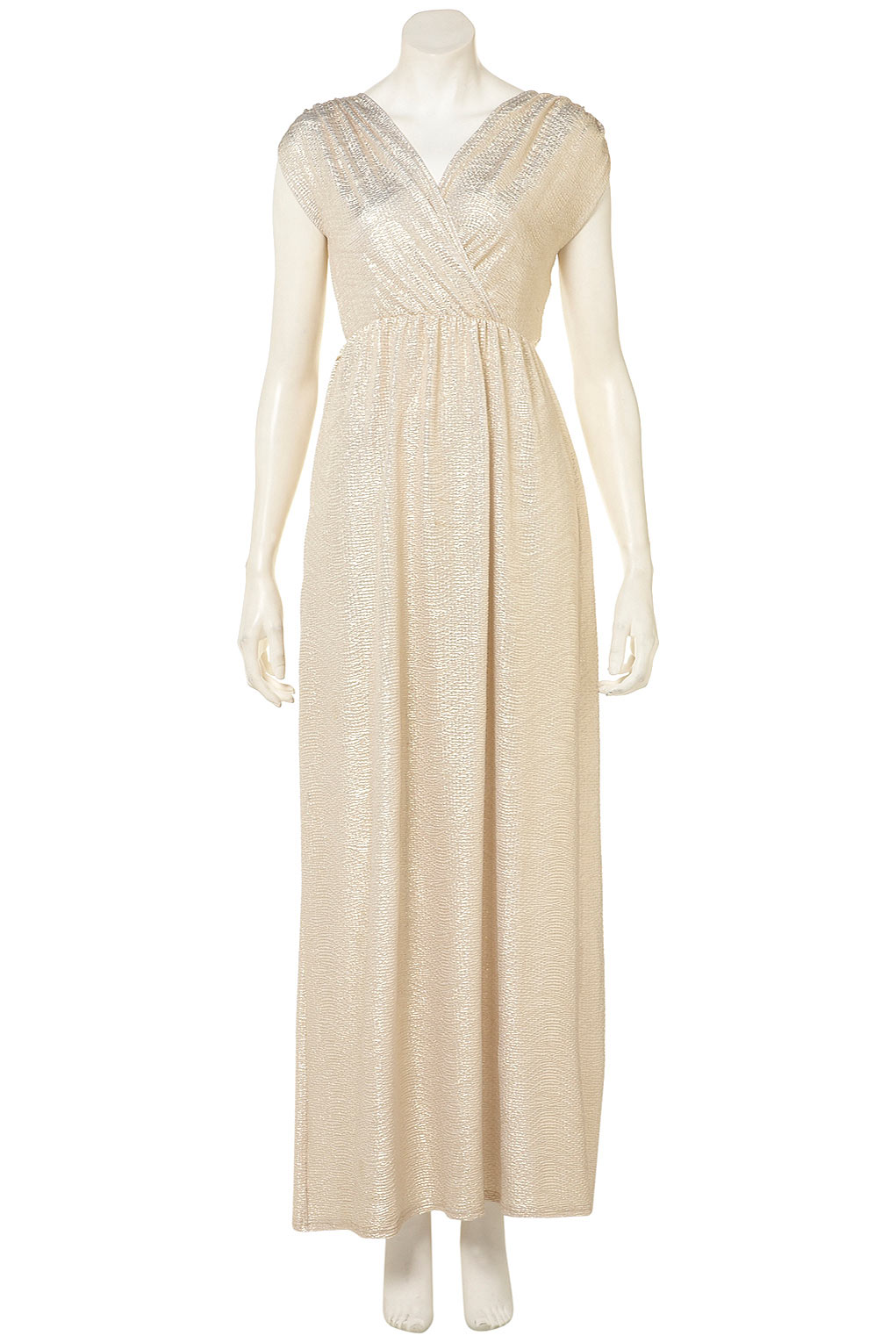 Gold detail grecian maxi dress by oh my love