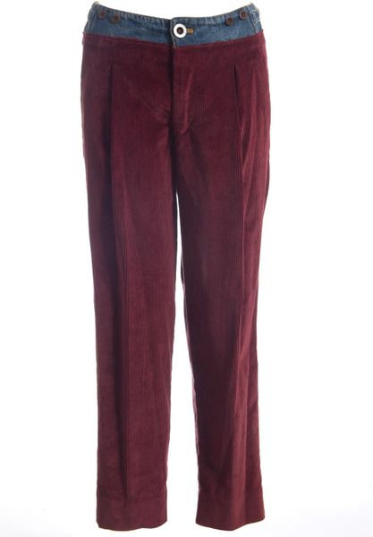 Amazing  Margiela Women39s Wool Burgundy Flat Front Dress Pants Size 2 6  EBay