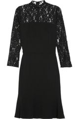 DKNY Lace and Crepe Dress