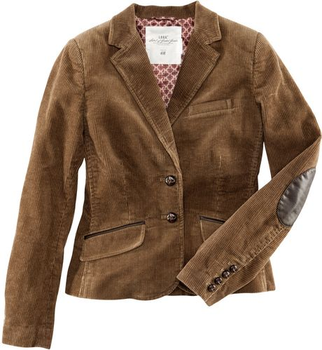 H Amp M Corduroy Jacket In Brown Beige Lyst
