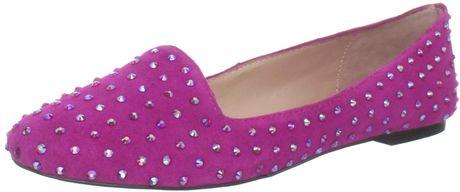 Betsey Johnson Betsey Johnson Womens Bliiingg Flat in Purple (fuchsia suede)