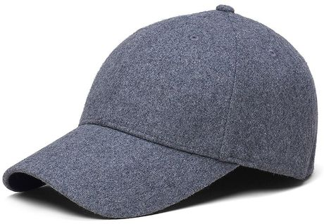 brothers wool baseball hat in gray for light