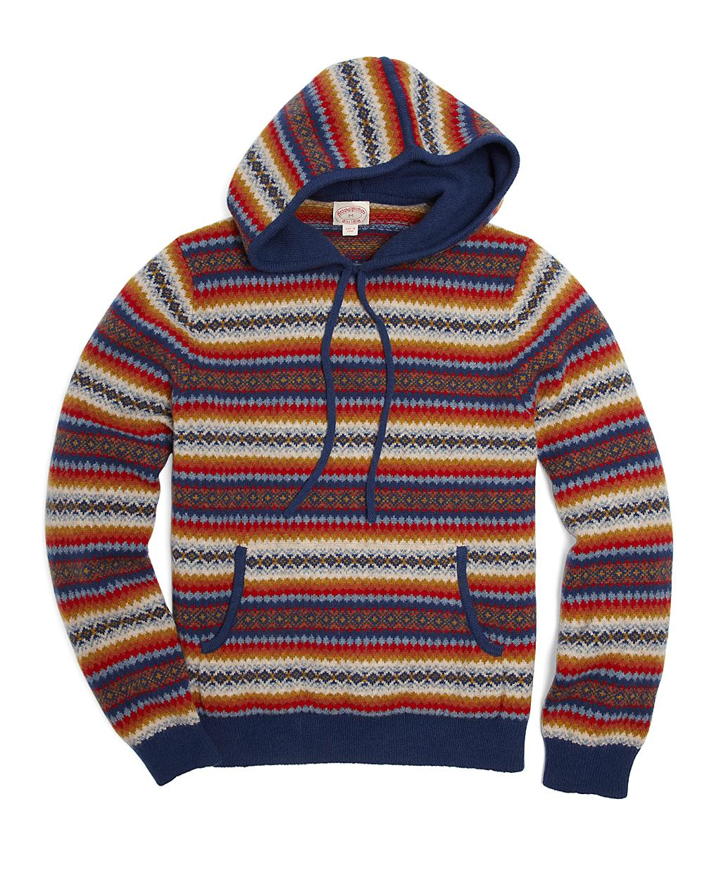 Brooks brothers Fair Isle Hoodie for Men | Lyst