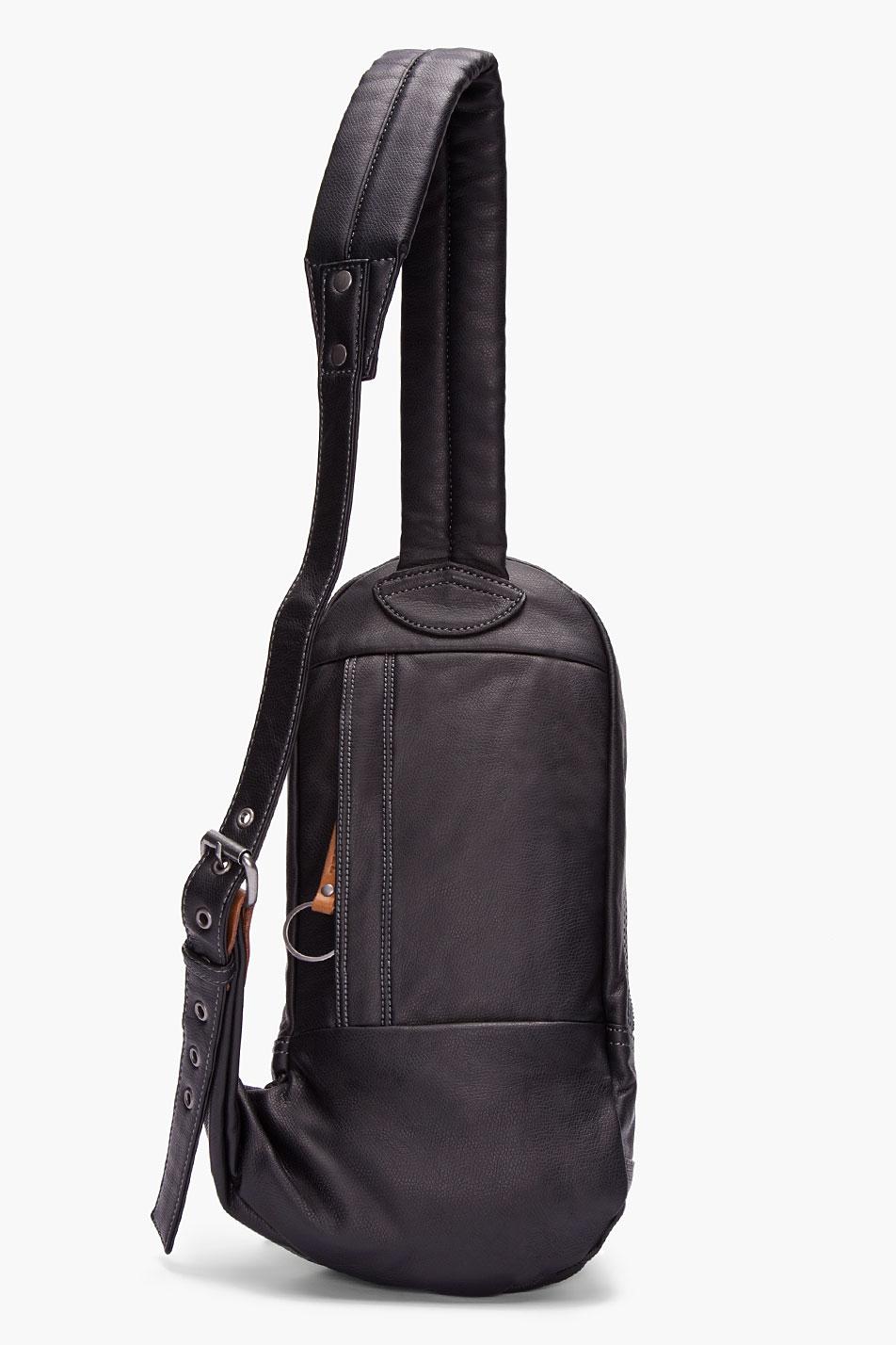 Diesel Black Faux Leather Core Bag in Black for Men | Lyst