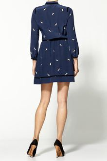 Juicy Couture Mod Leaf Print Silk Dress - Lyst