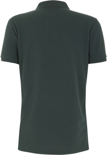 Polo Ralph Lauren Dark Green Custom Fit Mesh Polo Shirt in Green ...