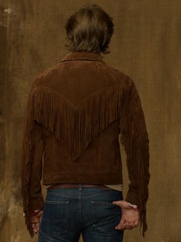 Lyst Ralph Lauren Fringe Jean Jacket In Brown For Men