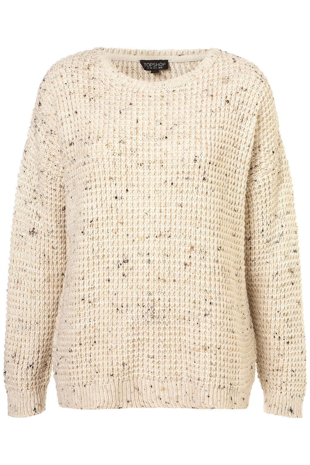 Knitting Pattern Slouch Jumper : Topshop Knitted Speckle Slouch Jumper in Beige (cream) Lyst