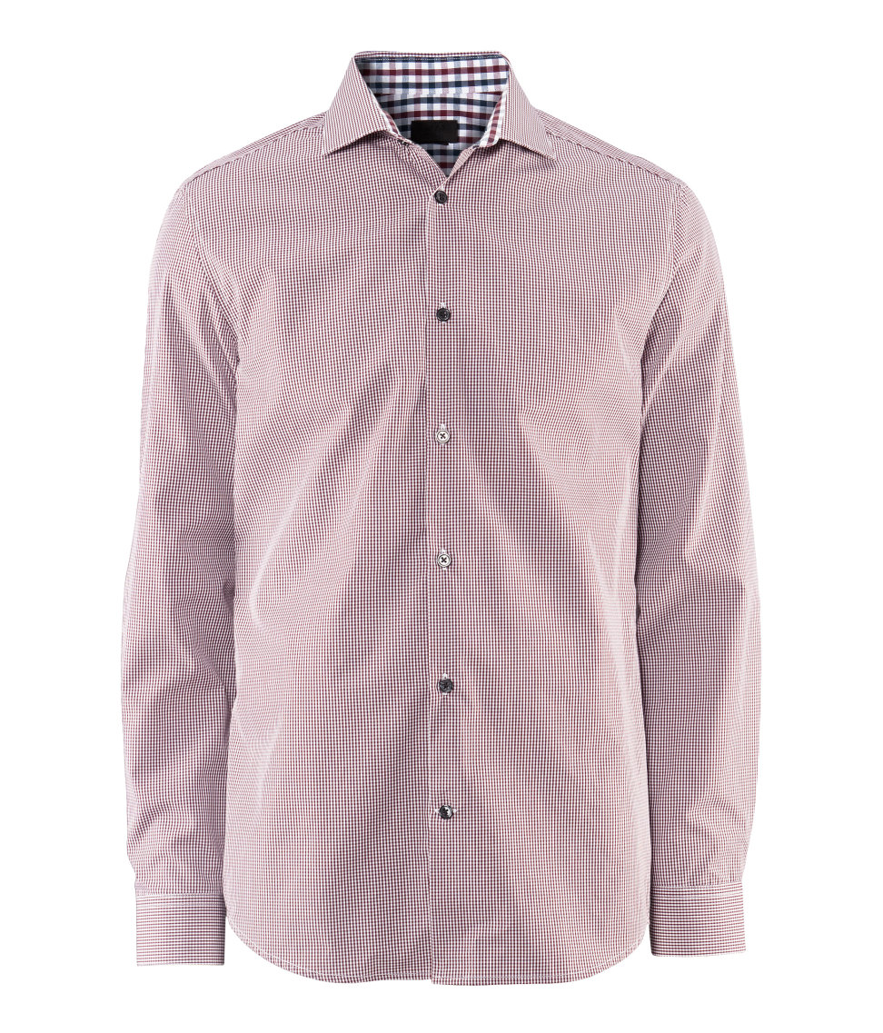 H M Shirt In Purple For Men Burgundy Lyst
