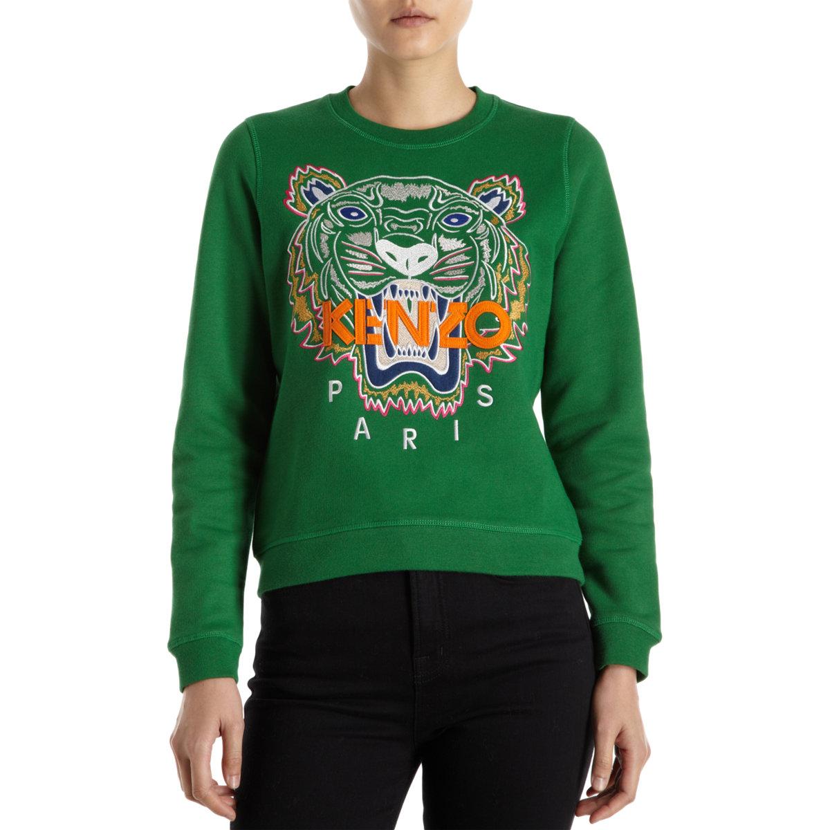 KENZO Tiger Sweater in Green - Lyst 7b22556e65
