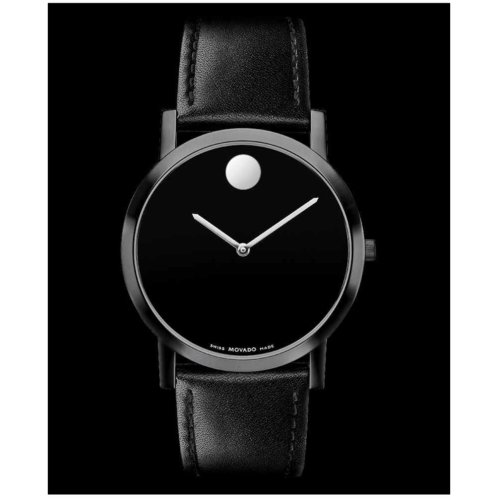 Lyst Movado Mens Swiss Museum Dial Black Leather Strap