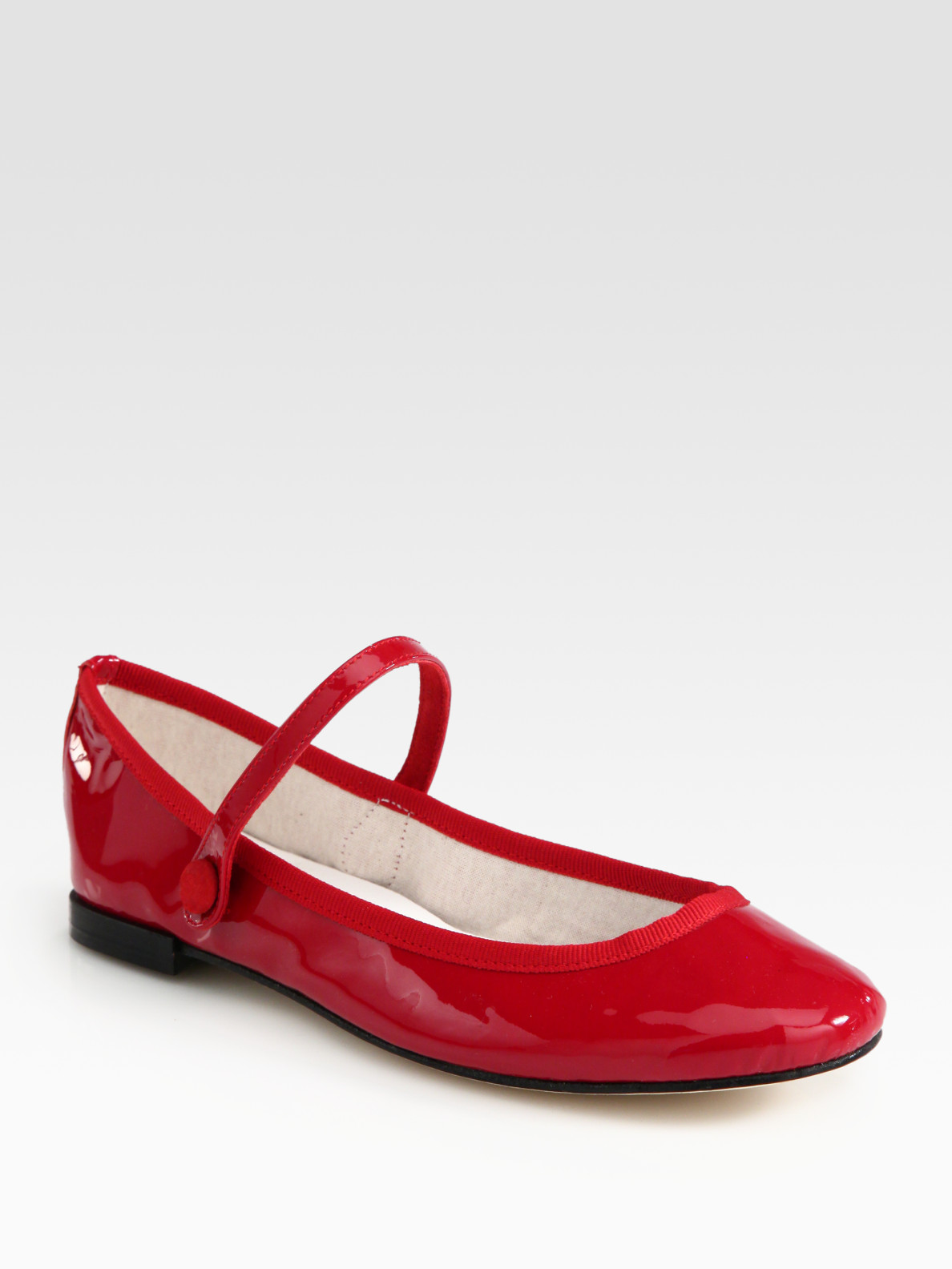 Lyst - Repetto Lio Patent Leather Mary Jane Ballet Flats in Red