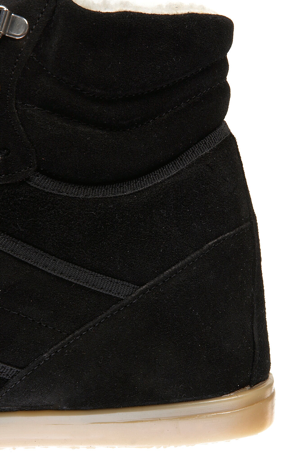 3b4340627c0 TOPSHOP Accabusi Hiker Hitop Wedges in Black - Lyst