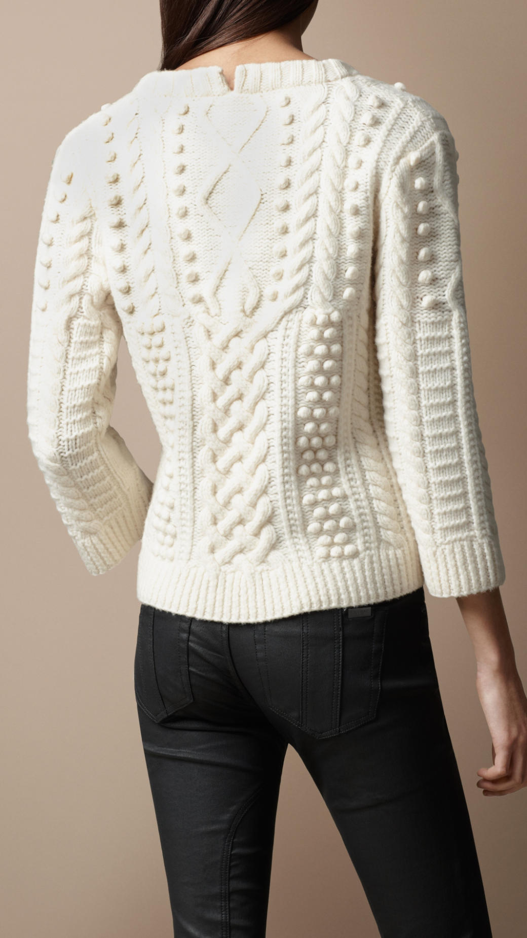 Cold weather cable knit sweater styles might include a turtleneck sweater, knit cardigan, or wrap sweater. Versatile sweaters for women styles would be the v neck sweater and the oversized cardigan, both of which could be worn at any time depending on the thickness of the material.