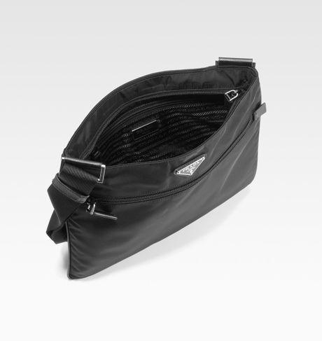 prada blue bag - prada messenger bag nylon and leather bag