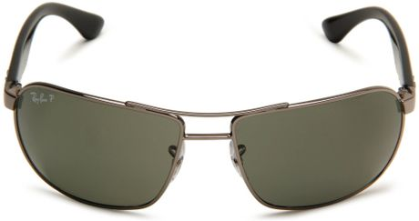 ray ban p aviators 7nf9  ray ban black polarized rectangle