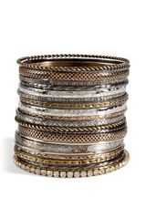 R.j.graziano Mixed Metal Set Of Bangles