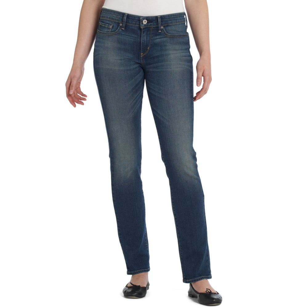 levi 39 s slight curve skinny blue tide wash jeans lyst. Black Bedroom Furniture Sets. Home Design Ideas