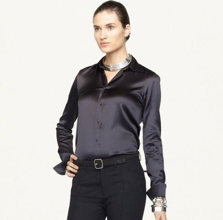 Ralph Lauren Black Silk Blouse 74