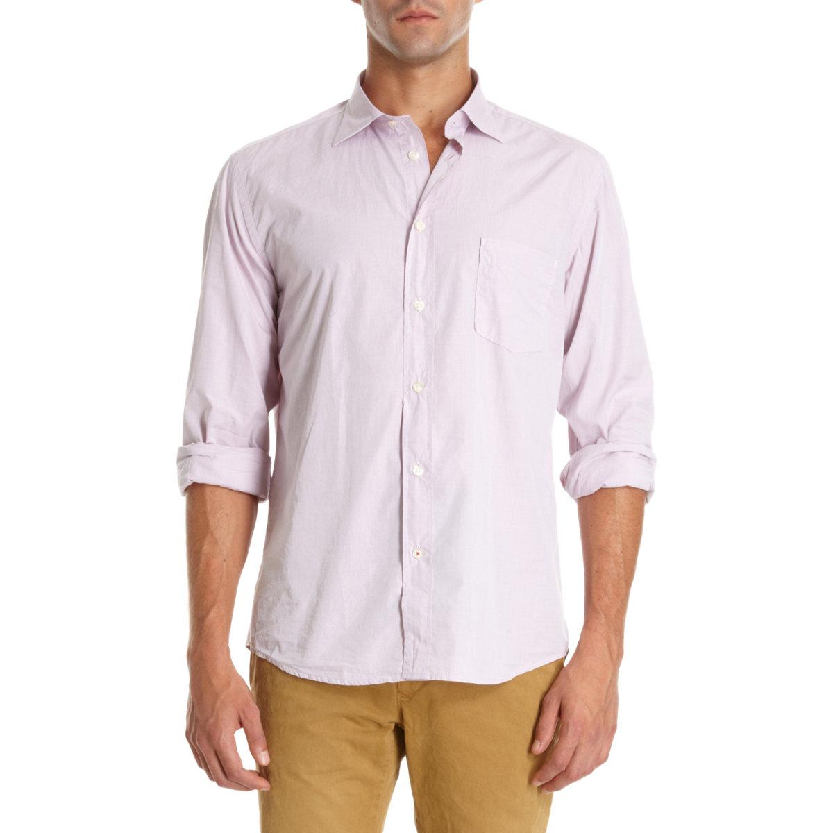 lyst hartford patch pocket dress shirt in pink for men