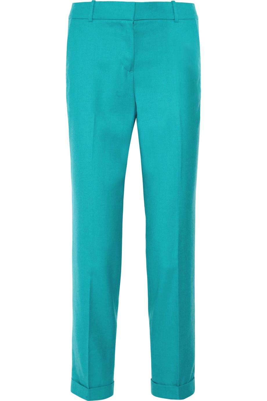 J Crew Caf 233 Wooltwill Capri Pants In Blue Teal Lyst